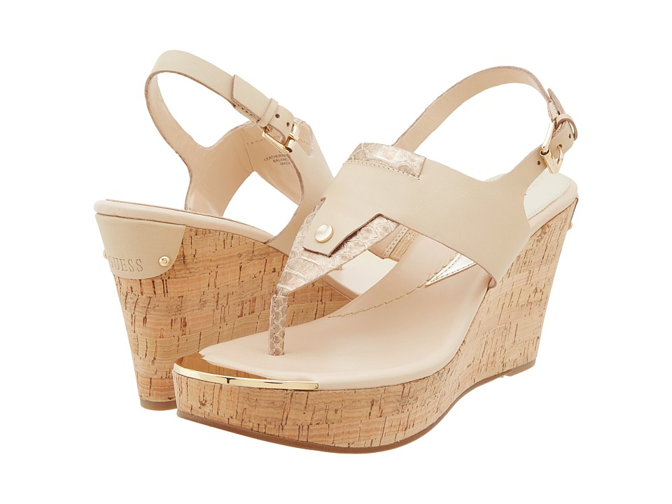 GUESS - Magli (Natural Multi Leather) Women's Wedge Shoes