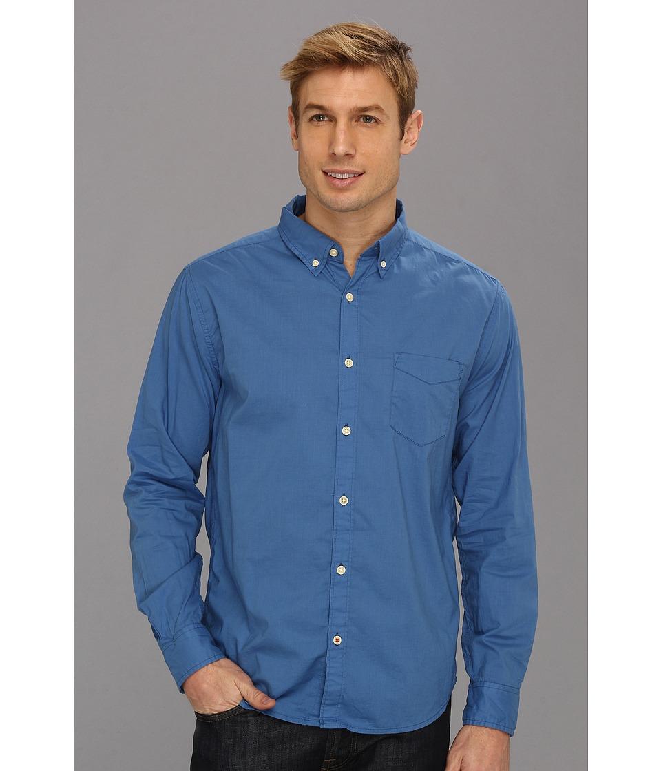 Lucky Brand Surf Wash Shirt Mens Long Sleeve Button Up (Blue)