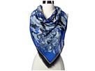 Versace Camouflage Scroll Scarf (Blue)