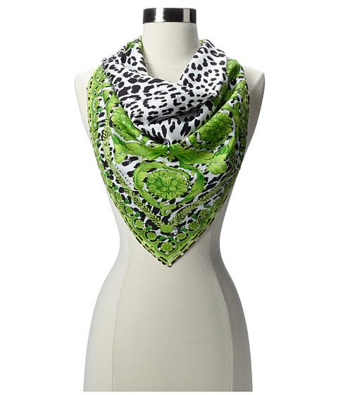 Versace - Leopard Spots and Scrolls Foulard (Green) Scarves