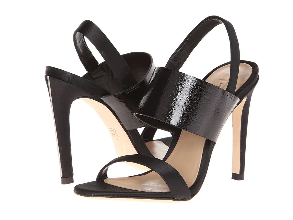 BCBGMAXAZRIA - Jash (Black Satin/Underwater Patent) High Heels