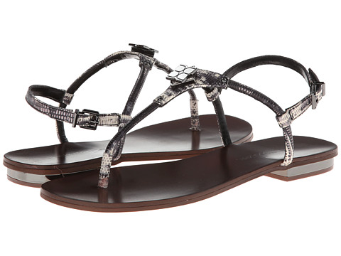 BCBGMAXAZRIA - Bunt (Black Spotted Lizard) Women's Sandals