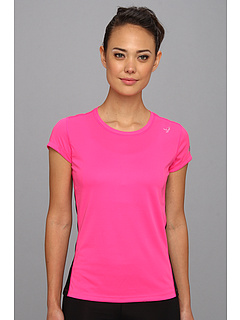 SALE! $13.75 - Save $11 on New Balance Komen Go 2 Short Sleeve Top (Black Pink Glo) Apparel - 45.00% OFF $25.00