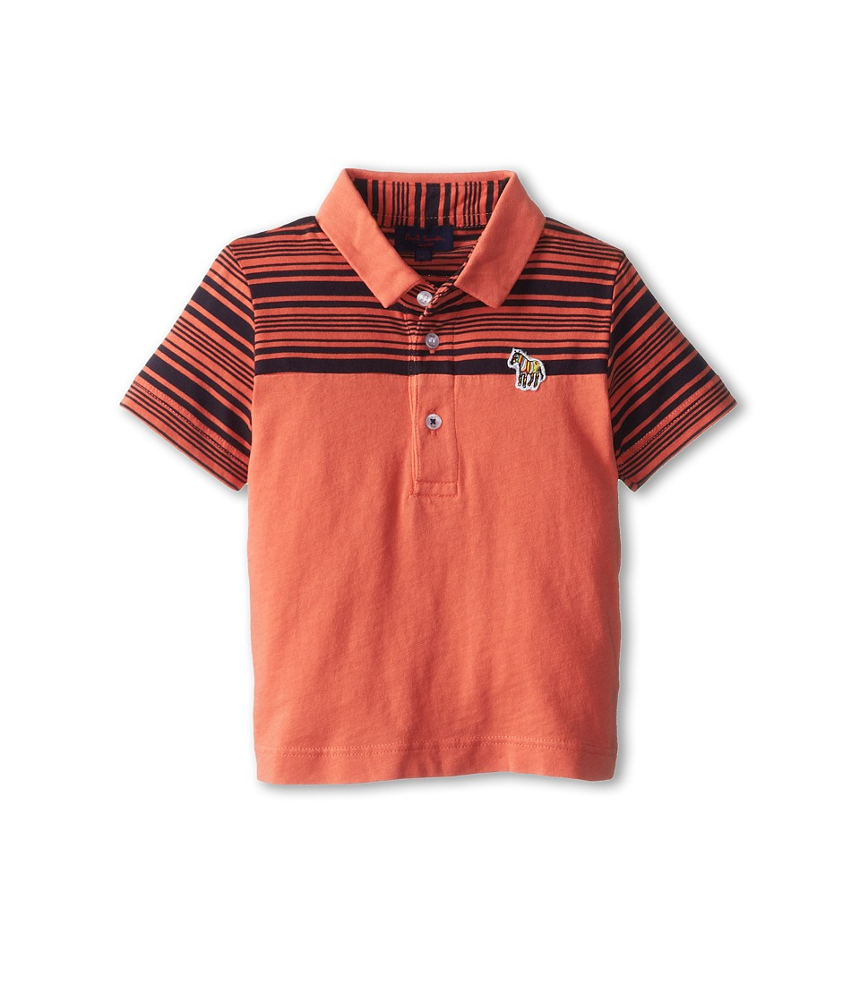Paul Smith Junior - Shortsleeve Fifty Polo Shirt (Infant/Toddler) (Soft Orange) Boy