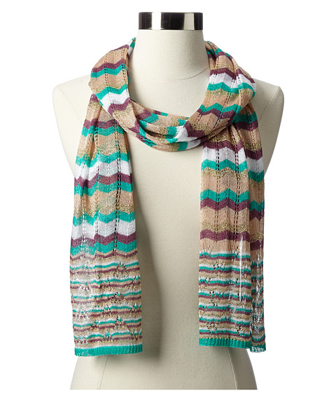 Missoni - Aurora Scarf (Prune/Green) Scarves