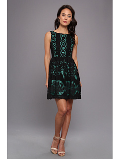 SALE! $76.99 - Save $91 on Ivy Blu Maggy Boutique Sleeveless Lace Fit Flare w Cont (BLKKOKI) Apparel - 54.17% OFF $168.00
