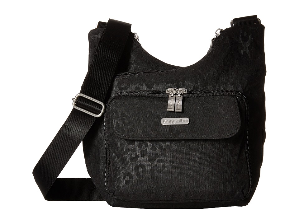 Baggallini - Criss Cross (Cheetah Black) Cross Body Handbags