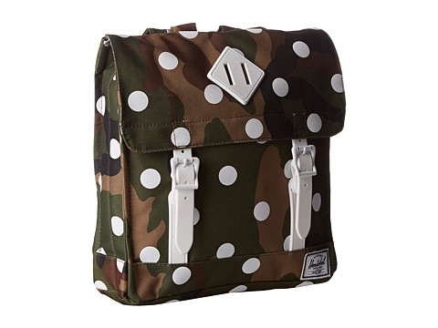 Herschel Supply Co. - Survey Kids (Woodland Camo/Polka Dot/White Rubber) Backpack Bags