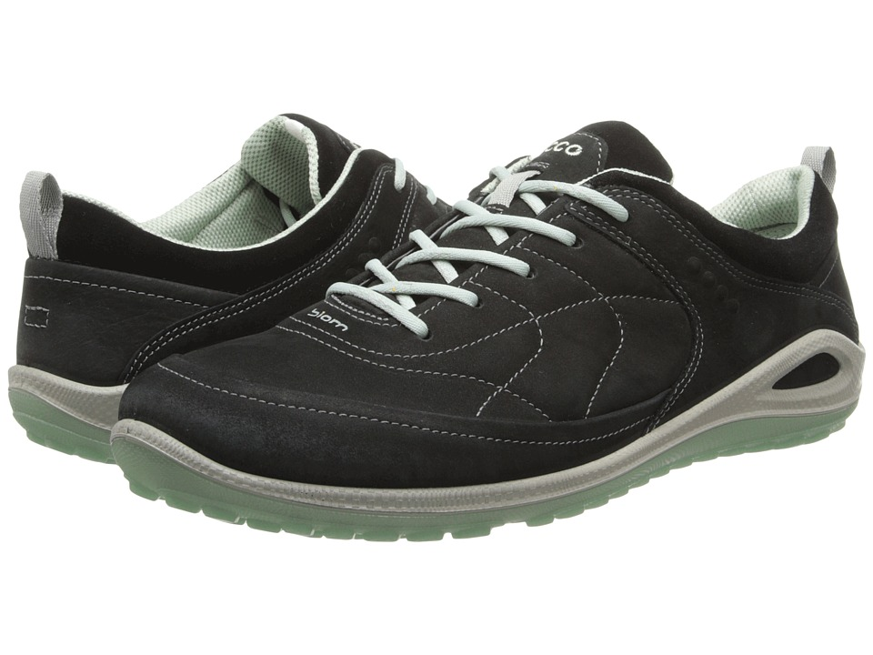ECCO Sport - Biom Grip Lite (Black/Black/Ice Flower Yabuck/Suede/Decoration) Women's Shoes