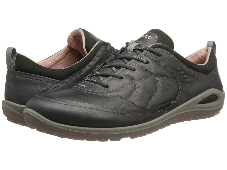 ECCO Sport - Biom Grip Lite Plus (Dark Shadow/Dark Shadow/Silver Pink Starship Yak/Suede/Decoratio) Women's Lace up casual Shoes