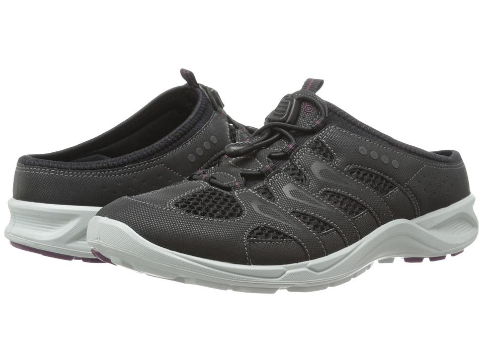 ECCO Sport - Terracruise Slide (Black/Black/Burgundy Synthetic Textile/Decoration) Women's Shoes