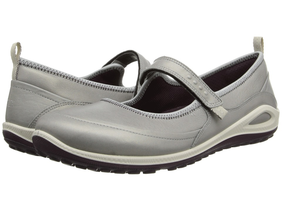 ECCO Sport - Biom Grip Lite Maryjane (Silver Grey/Burgundy Starship Yak/Decoration) Women's Shoes