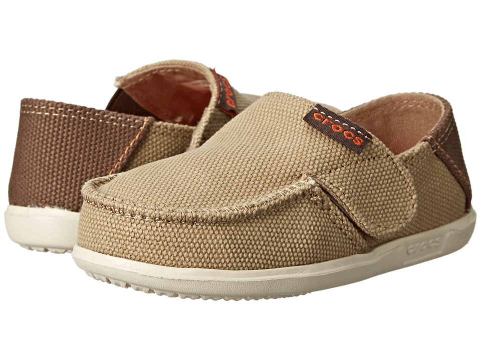 Crocs Kids - Santa Cruz Canvas Loafer PS (Toddler/Little Kid) (Khaki/Stucco) Boy's Shoes