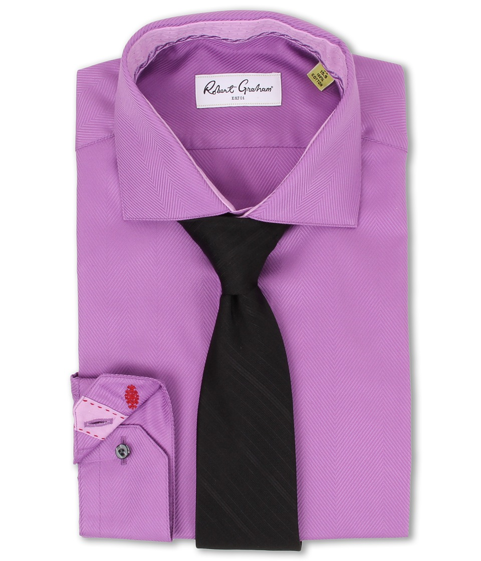 Robert Graham - Lambert L/S Dress Shirt (Mauve) Men's Long Sleeve Button Up