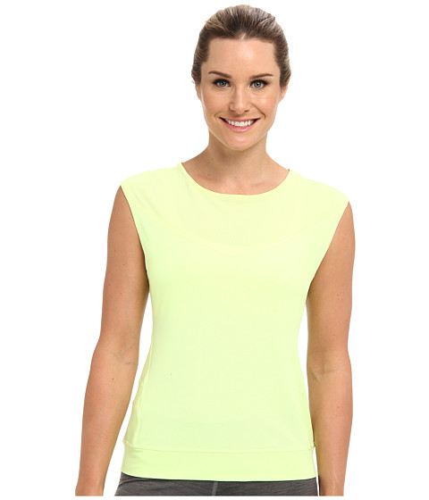 Lucy - I Run This S/S (Light Key Lime Neon Heather) Women's Workout