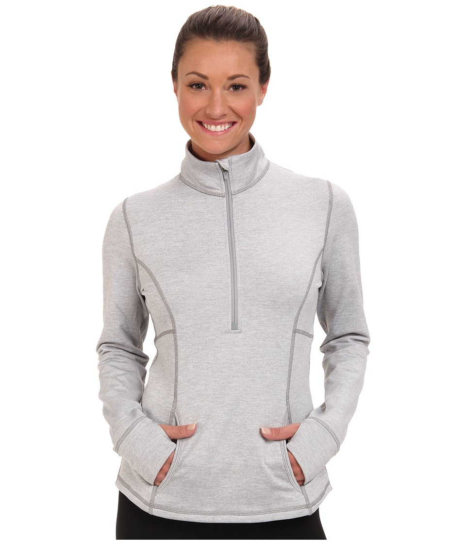 Lucy - Keep The Pace Half Zip (Sleet Grey Heather) Women's Coat