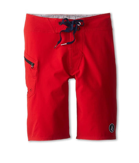 Volcom Kids - Lido Solid Boardshort (Big Kids) (Red) Boy's Swimwear