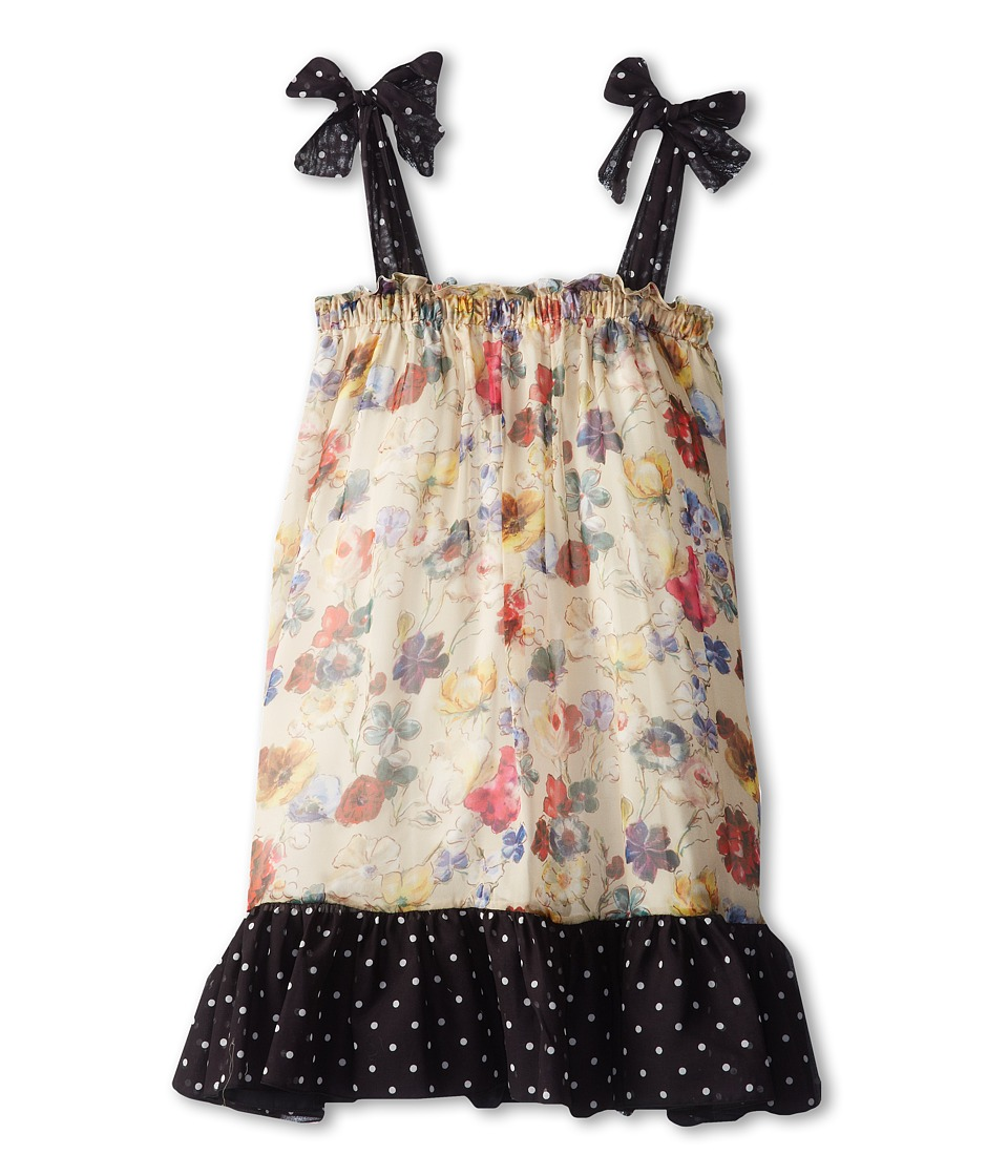 Dolce & Gabbana - Printed Chiffon Dress (Big Kids) (Multi) Women