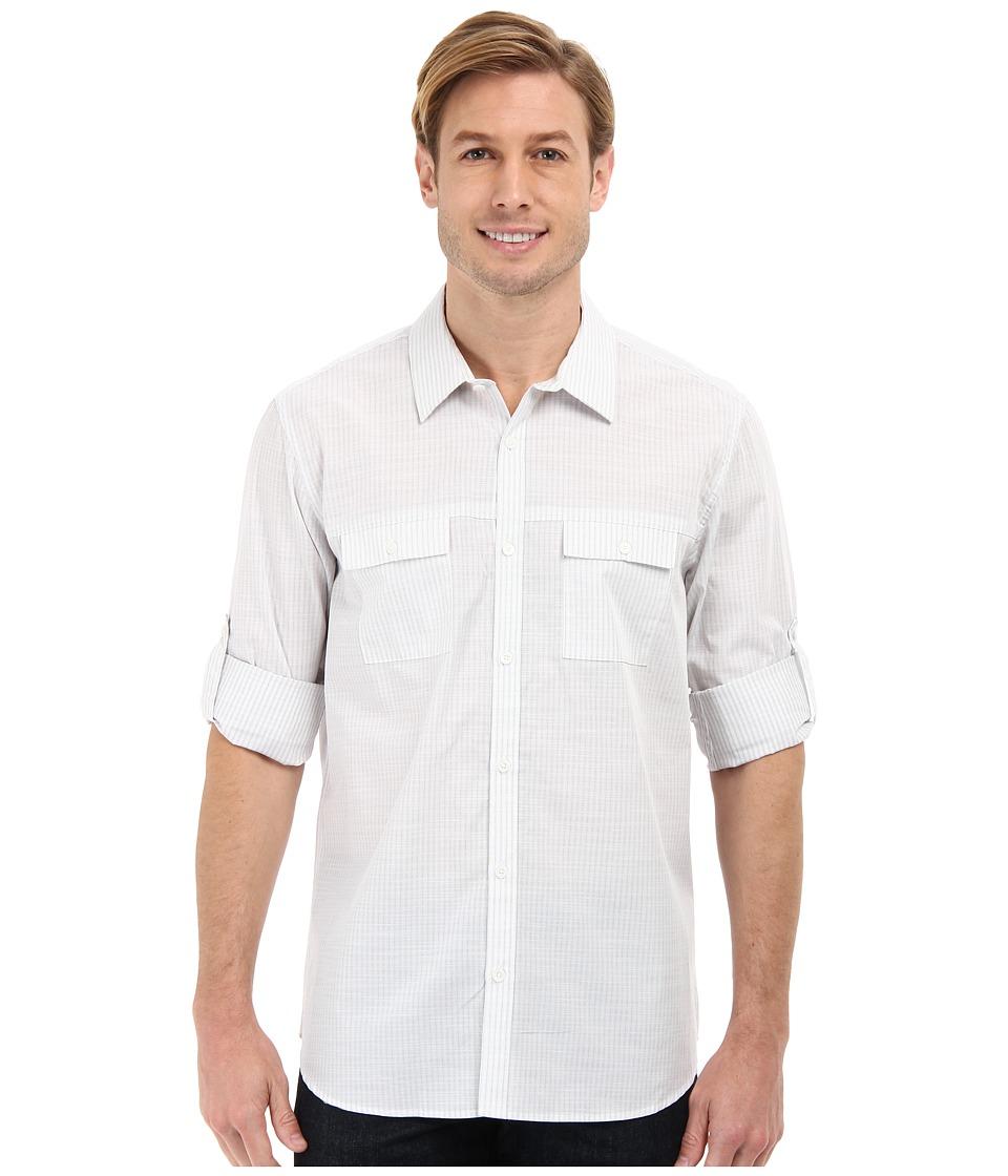 Calvin Klein - Modern Fit Slub Stripe L/S Sport Shirt (Concrete) Men