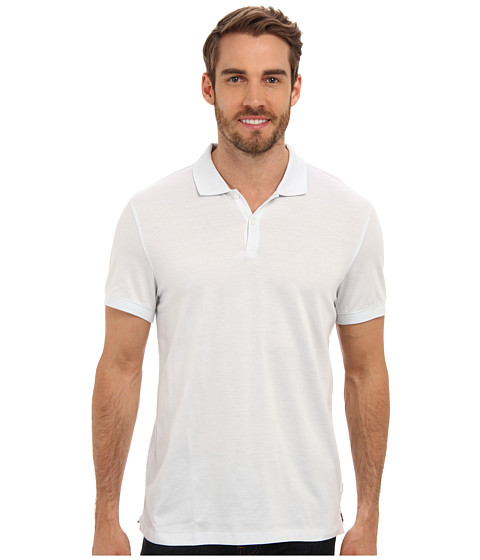 Calvin Klein - S/S Pique Striped Polo (Mooncrest) Men