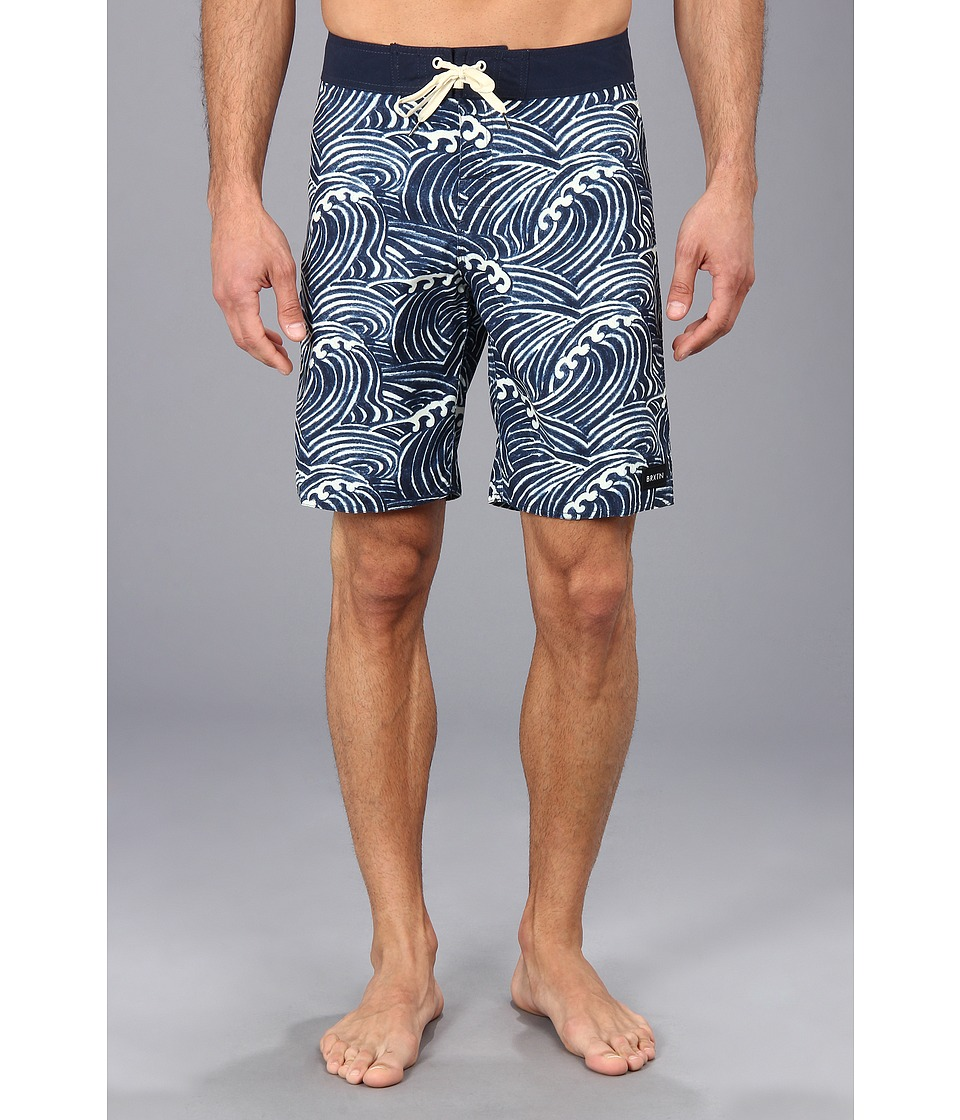 Brixton - Sonar Trunk (Navy) Men's Swimwear