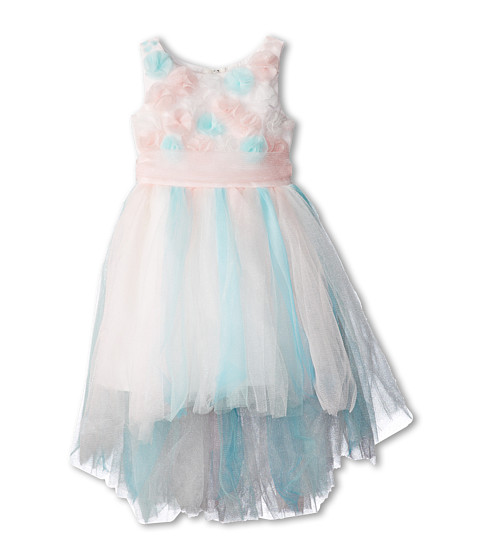 Biscotti - Origami Garden Ballerina Hi Low Dress (Littler Kids) (Multi) Girl
