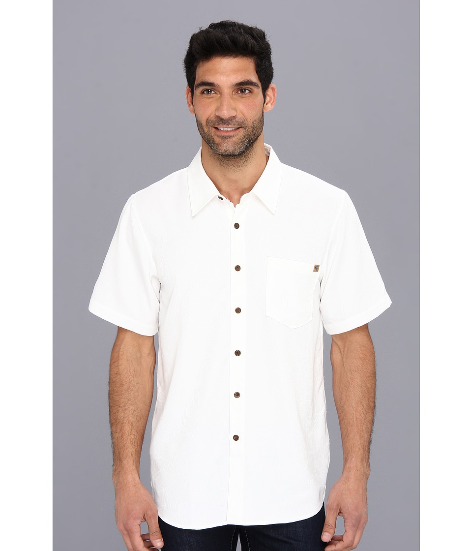 Toes on the Nose - Anacapa Woven (White) Men's Short Sleeve Button Up