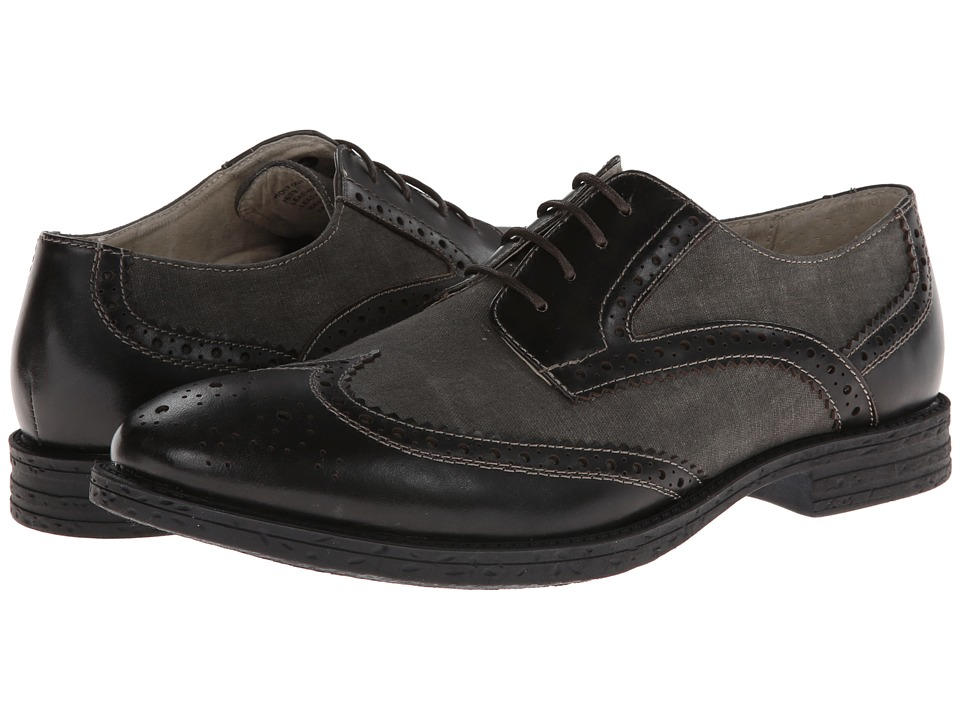 Robert Wayne - Holt (Black) Men's Lace Up Wing Tip Shoes