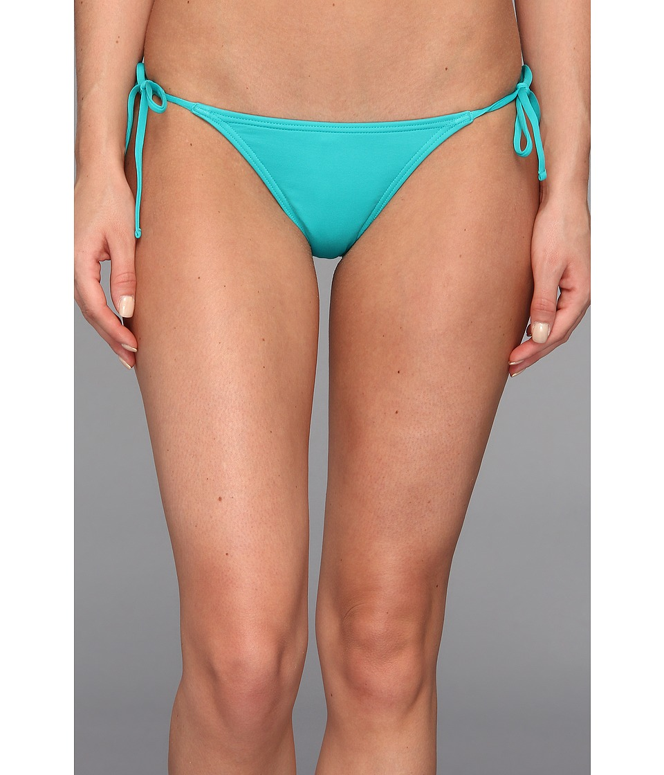 Volcom - Simply Solid Flutter Back Skimpy Bottom (Teal) Women's Swimwear