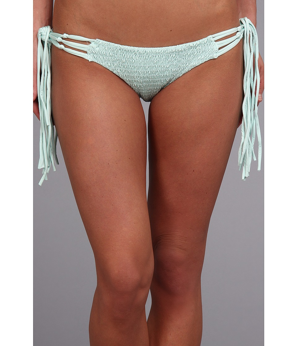 Volcom - Mother Pucker Smocked Front Retro Faux Tie Side Bottom (Ice) Women's Swimwear