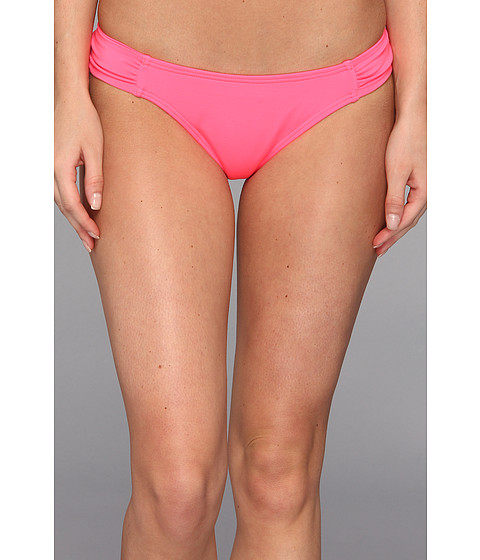 Volcom - Simply Solid Soft Side Modest Reversible Bikini Bottom (Coral) Women