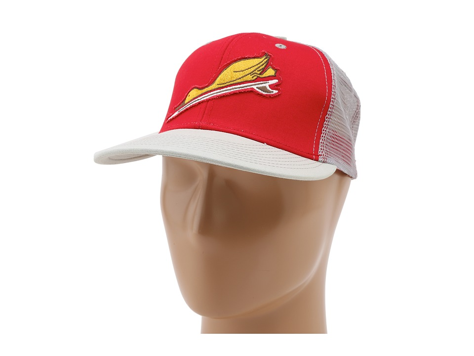 Toes on the Nose - Duck Dive Trucker Hat (Red) Caps