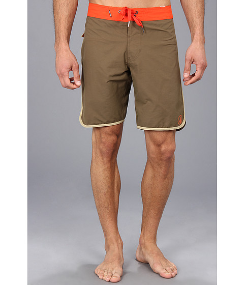 Volcom - Solid Scallop Boardshort (Military) Men's Swimwear