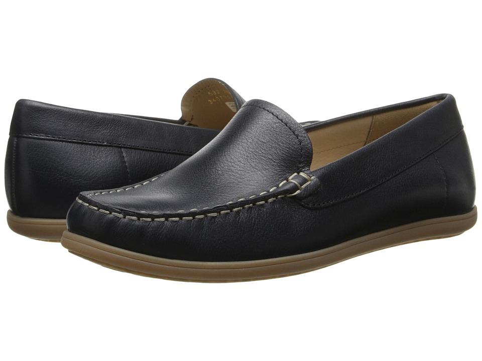 ECCO - Siena Moc (Denim Blue) Women's Slip on  Shoes