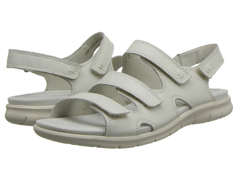 ECCO - Babette Sandal 3-Strap (Shadow White) Women's Shoes