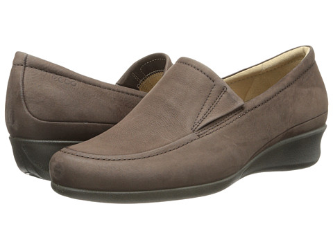 ECCO - Abelone Slip On (Coffee) Women's Wedge Shoes