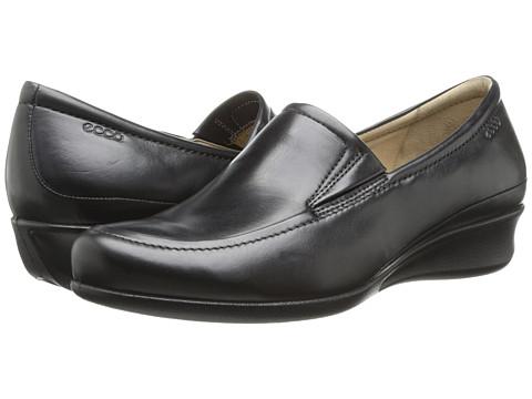 ECCO - Abelone Slip On (Black) Women's Wedge Shoes