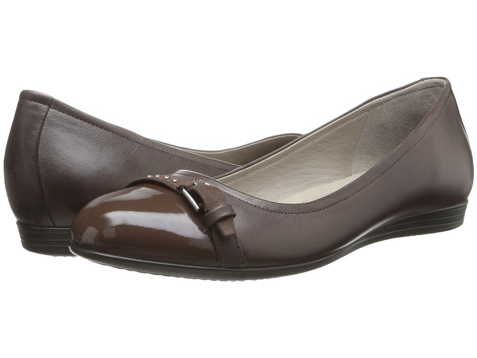 ECCO - Touch 15 Ballerina (Coffee/Coffee) Women's Slip-on Dress Shoes