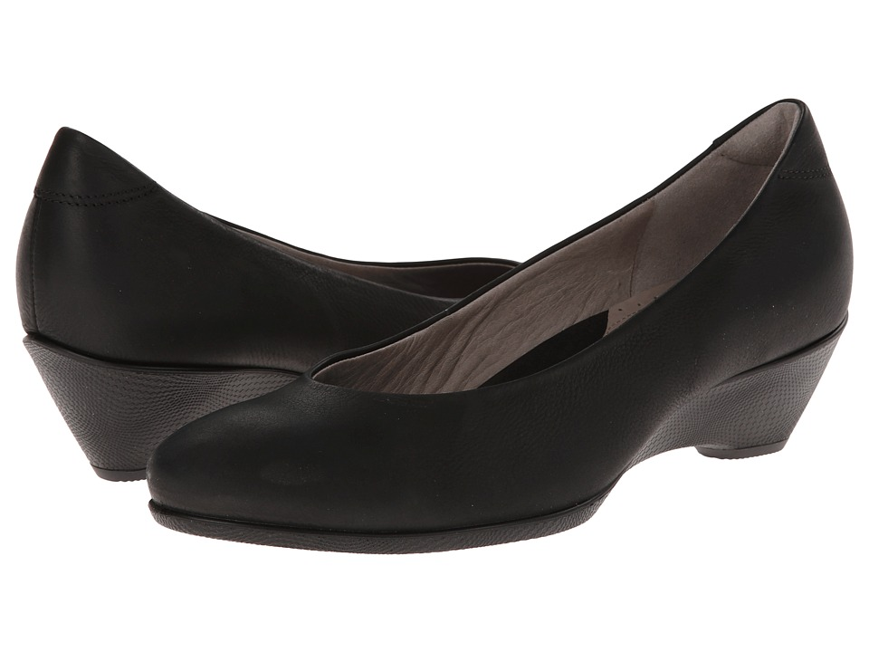 ECCO - Sculptured 45 Wedge Pump (Black) Women's Wedge Shoes