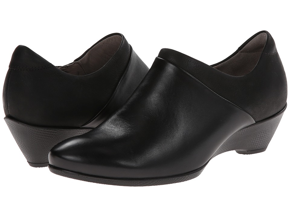 ECCO - Sculptured 45 W Slip On (Black/Black) Women's Shoes
