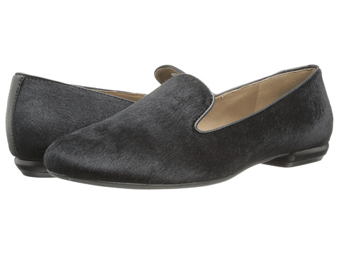 ECCO - Perth Loafer (Black) Women's Slip on Shoes