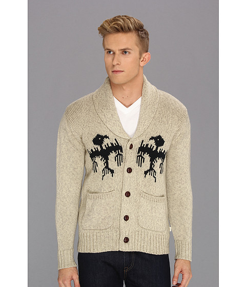 Obey - Bird Cardigan (Heather Oatmeal) Men's Sweater