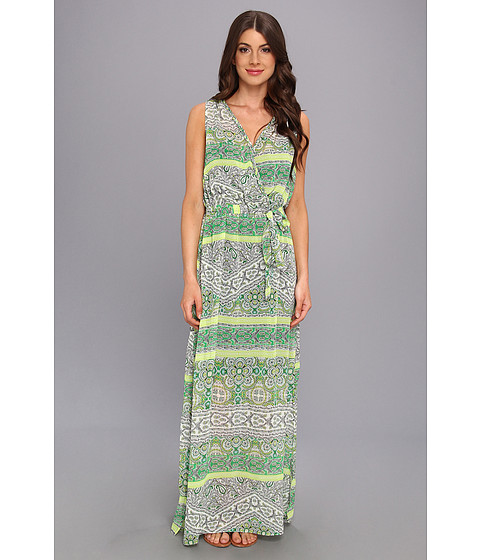 KUT from the Kloth - Printed Maxi Dress (Green/White) Women