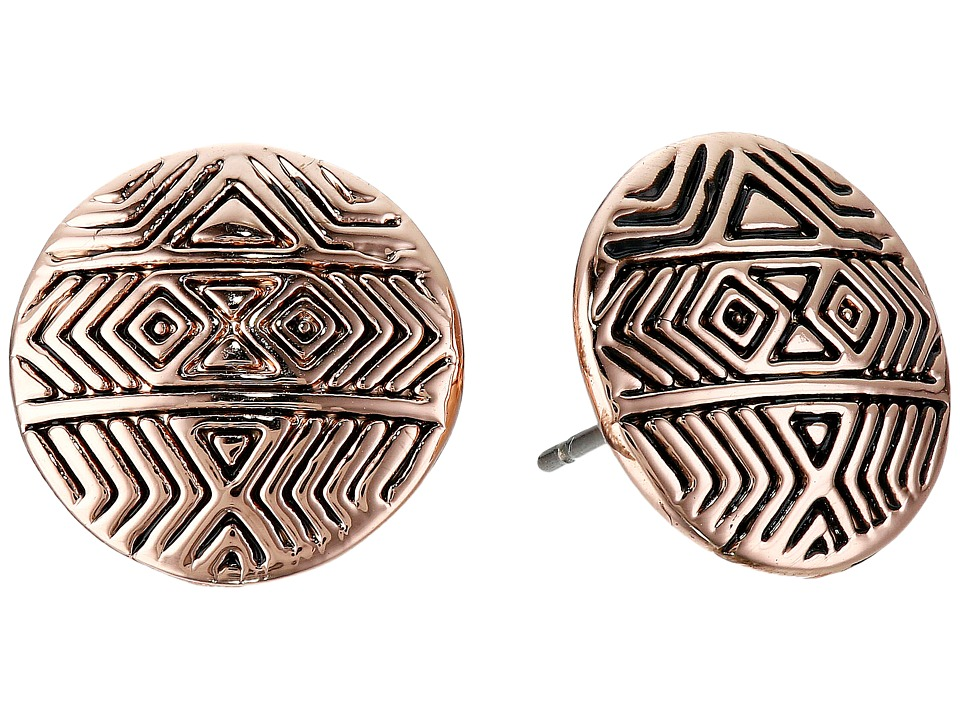 House of Harlow 1960 - Tholos Mosaic Stud Earrings (Rose Gold) Earring