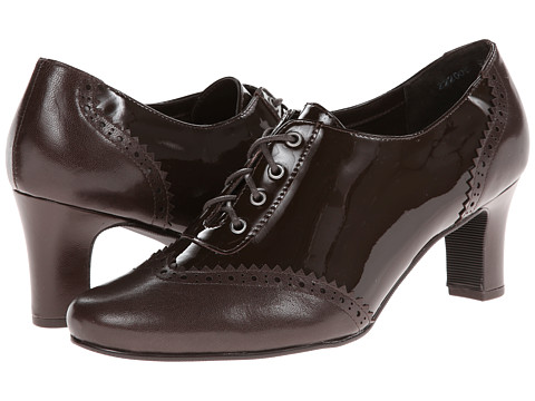 Fitzwell - Omen (Brown Patent/Brown Kid) Women's Lace Up Wing Tip Shoes