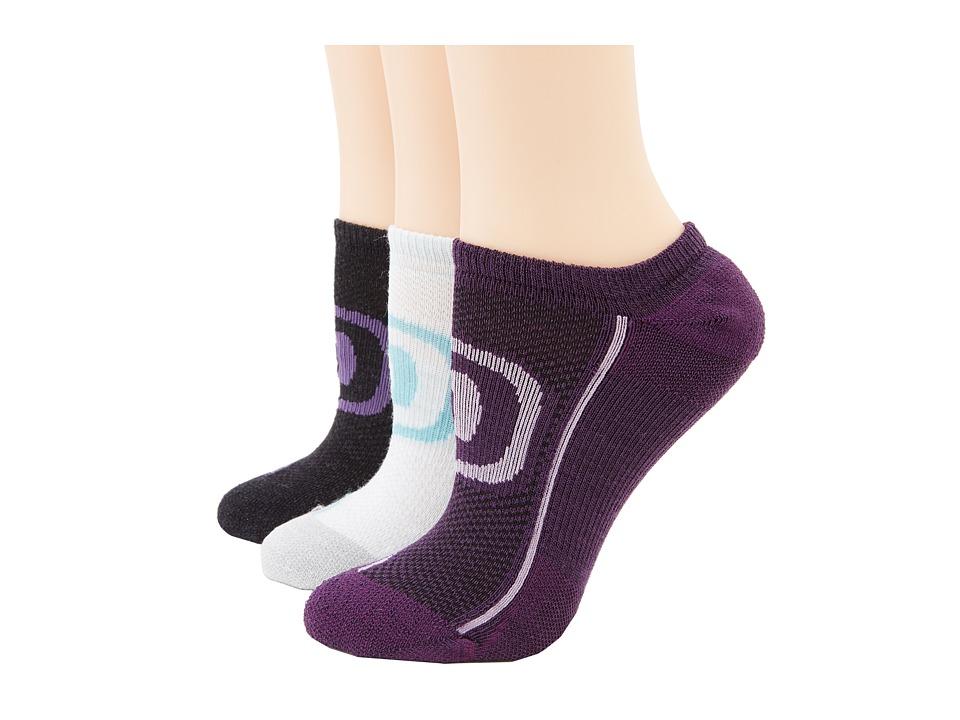 Keen - Zip Hyperlite No Show 3 Pack (Charcoal/Purple, Dark Purple/Violet, Sea Foam/Gray/Dusty) Women