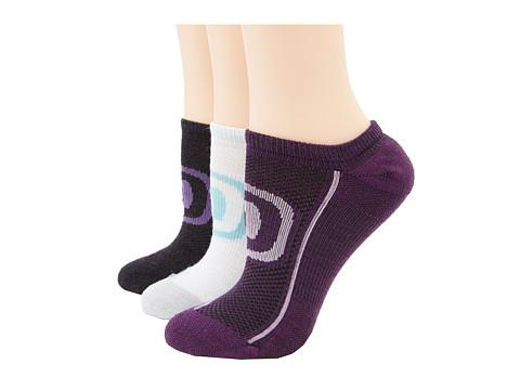 Keen - Zip Hyperlite No Show 3 Pack (Charcoal/Purple, Dark Purple/Violet, Sea Foam/Gray/Dusty) Women's Quarter Length Socks Shoes