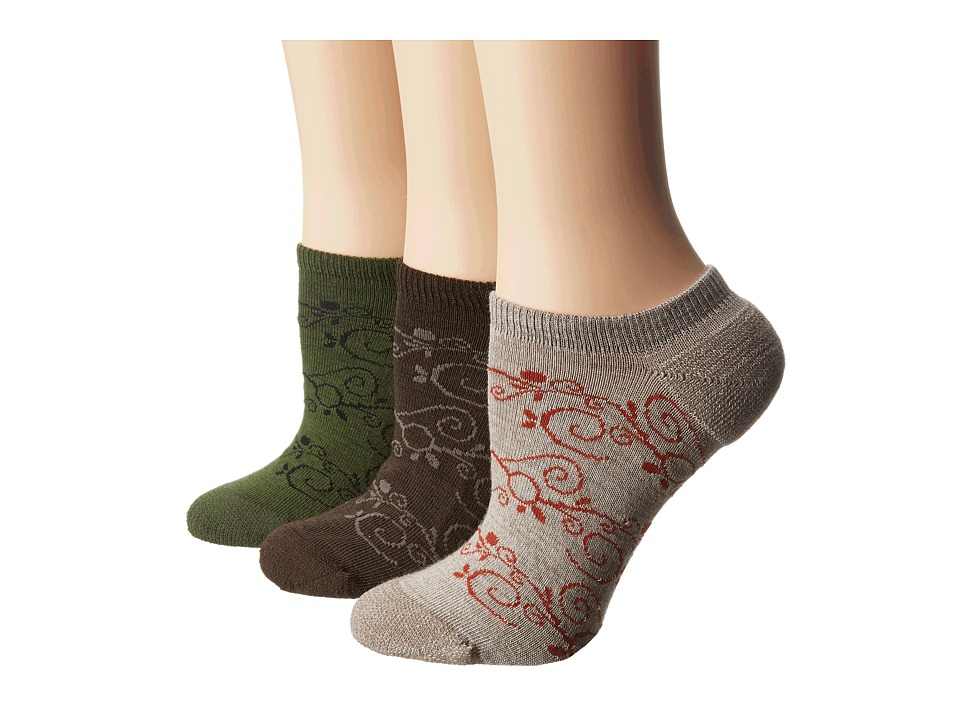 Keen - Kanga 3-Pack Assorted (Beige/Slate Black/Dark Green) Women's No Show Socks Shoes