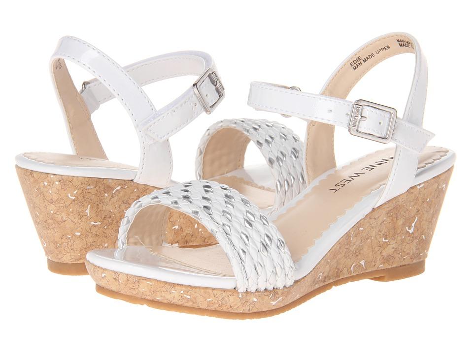 Nine West Kids - Edie (Little Kid/Big Kid) (White) Girls Shoes