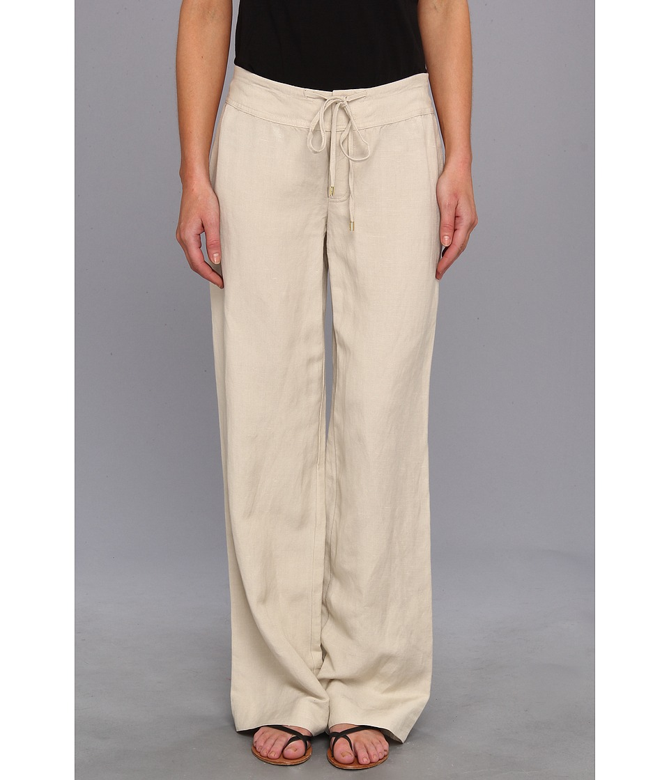 Calvin Klein - Linen Wide Leg Pant (Latte) Women's Casual Pants